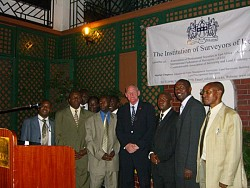 Evening reception in Nairobi with ISK - click picture for bigger format.