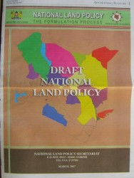 New Land Policy for Kenya - Click picture for bigger format.