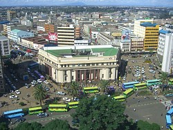 Downtown Nairobi - Click picture for bigger format.