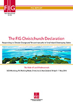 FIG Publicaton 68 The Christchurch Declaration